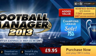 Download FM13 for £9.95