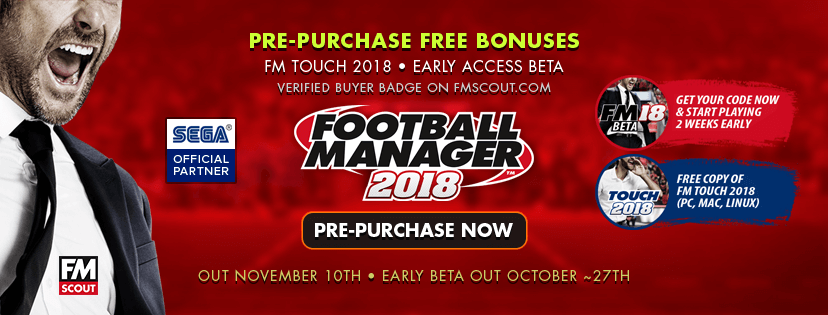 fm18 pre-purchase to download