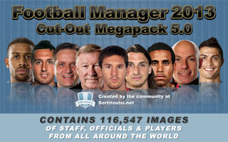 Cut-Out Faces Megapack for FM13