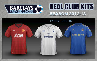 English Premier League kits 2012/13