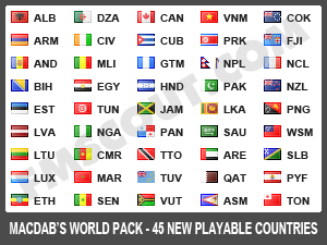 Macdab World Leagues Megapack