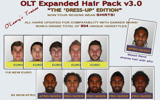OLT Expanded Hair Pack v3 - Dress-Up Edition