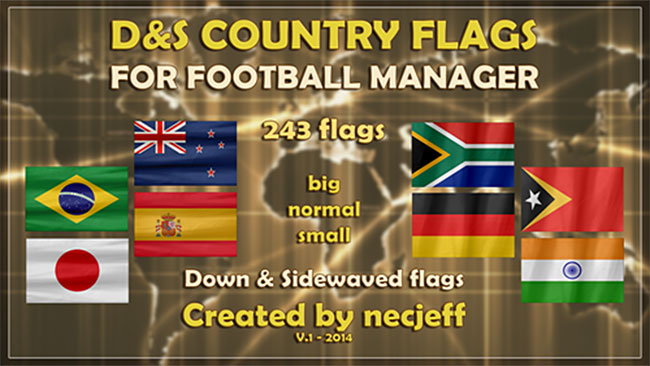 FM 2014 Misc Graphics - D&S Country flags
