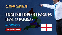 English Lower Leagues Level 12 Database for FM14