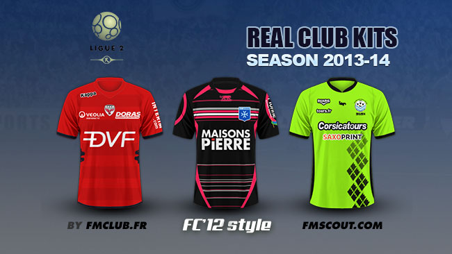 FM 2014 Club Kits - French - Ligue 2 kits 2013/14