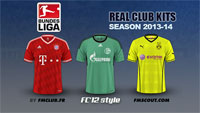 German Bundesliga kits 2013/14