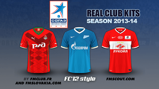 FM 2014 Club Kits - Russian Premier League kits 2013/14