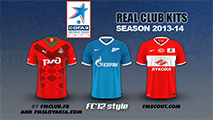 Russian Premier League kits 2013/14