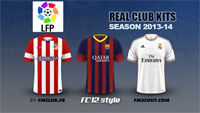 Spanish Liga BBVA kits 2013/14