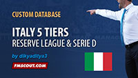 Italy 5 tiers for FM14