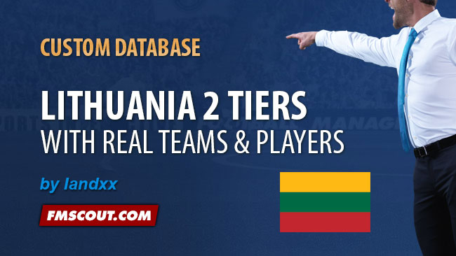FM 2014 New Leagues - Lithuania 2 Tiers for FM14