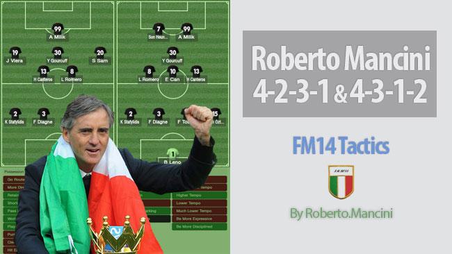 tactics of roberto mancini for fm14 fm scout