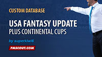 USA Fantasy Update and Continental Cups