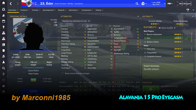 FM 2015 Skins - Alavanja 15 Pro Eyegasms (Dark v1.1 / Light v1.0)