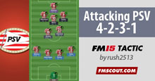 Attacking 4-2-3-1 with PSV