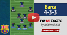 Barca 4-3-3 FM15 Tactic [Video]