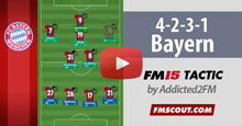 Bayern 4-2-3-1 FM15 Tactic [Video]