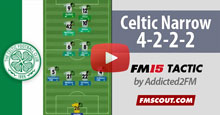 Celtic 4-2-2-2 Narrow FM15 Tactic [Video]