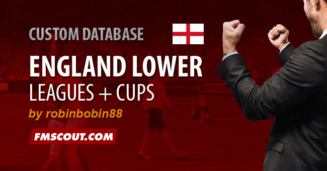 FM 2015 New Leagues - England Level 10 + Cups for FM15