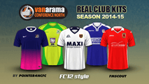 English Vanarama Conference North Kits 2014/15