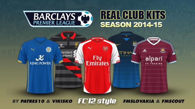 best sneakers e183c 9b763 English Premier League kits 2014/15   FM Scout