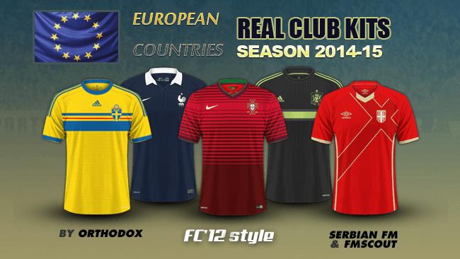 European nations kits 2014/15