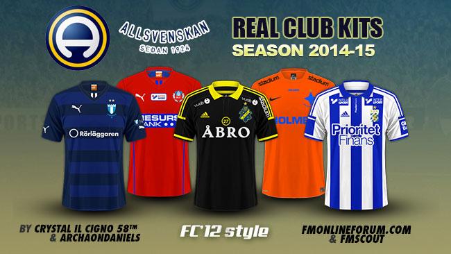 Swedish Allsvenskan Kits 2014 15 Fm Scout