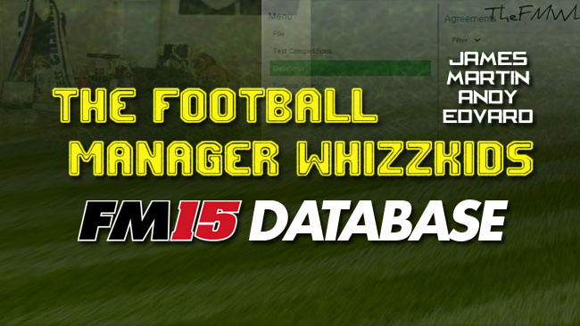 The Football Manager Whizzkids 2015 Transfer Database - 10/08/2015!