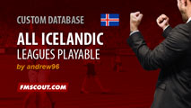 Iceland All Leagues Playable for FM15