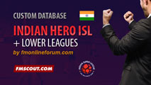 Indian Super League and Indian Lower Leagues for FM15