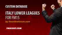 Italy Lower Leagues for FM15