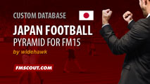 Japan Football Pyramid for FM15