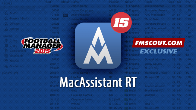 FM 2015 Tools - MacAssistant RT for FM15 - Exclusive