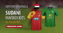 Sudani clubs fantasy kits for FM15