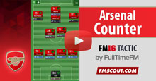 Arsenal Counter 4-2-3-1 FM16 Tactic