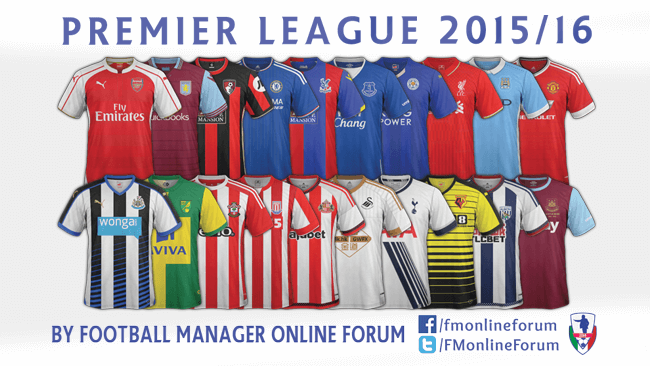 England Premier League SS' Kits 2015/16