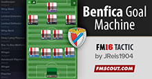 Benfica Goal Machine FM16 Tactic