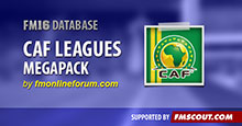 CAF Leagues Megapack for FM16