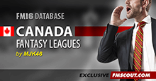 Fantasy Canada FM16 Database