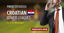 Croatian Lower Leagues for FM16