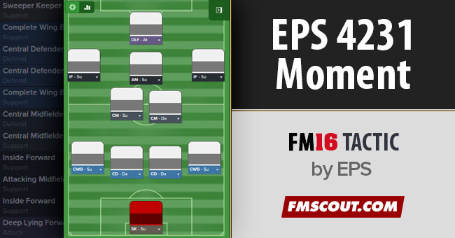 FM 2016 Tactics - EPS 4-2-3-1 Moment