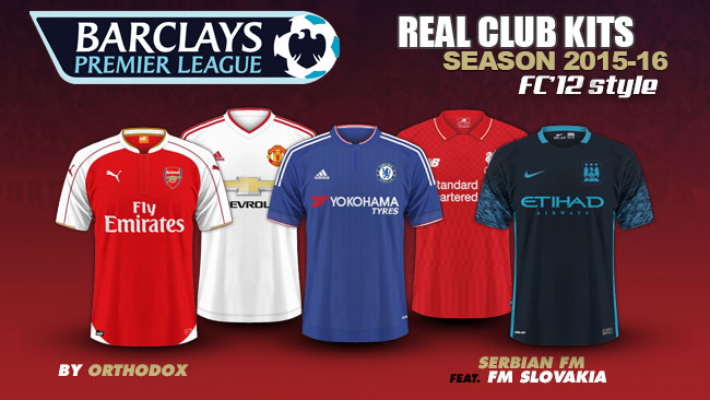 Barclays Premier League Kits 2015/16