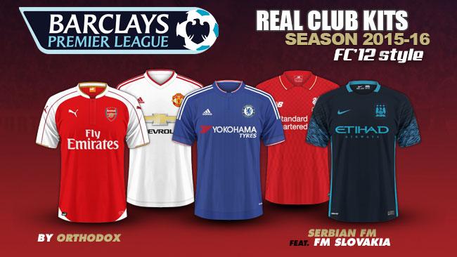 huge selection of e61ac cb8b2 Barclays Premier League Kits 2015/16 | FM Scout