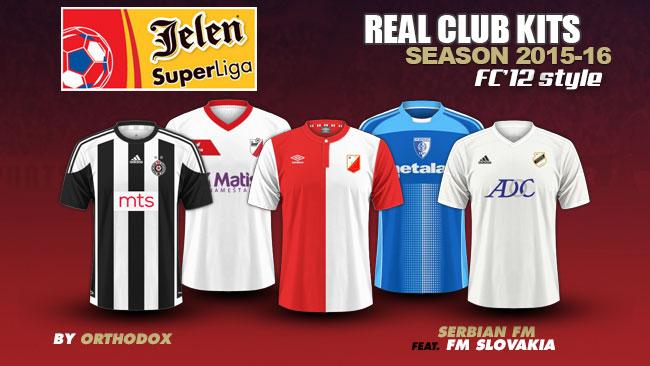 Serbian Jelen Super Liga kits 2015/16