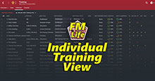 FM16 Individual Training View