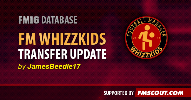 The Football Manager Whizzkids 2016 Transfer Database - 09/04/2016.