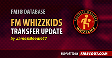 The Football Manager Whizzkids 2016 Transfer Database - 02/09/2016.