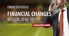 FM16 Financial Changes 2016-2017