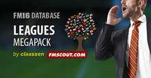 FM16 Megapack 40 Leagues by claassen / Updated 28 Nov