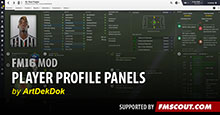 FM16 Player Profile Panels by ArtDekDok